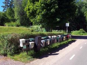 Briefkästen in Schweden
