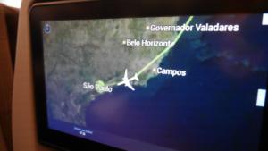 Kurz vor der Landung in Sao Paolo