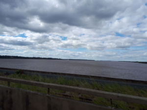 Brücke über den Rio Uruguay