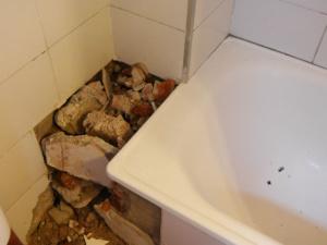 Reparaturen in unserem Badezimmer