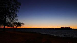 Der Rio Uruguay im Sonnenuntergang