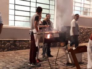 Frisch gebraten - in der Altstadt von Curitiba