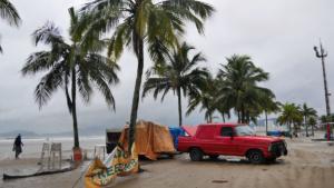 Regentag - schlechte Geschäfte für die Strandbuden