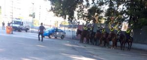 Polizeipräsenz vor dem Maracanã-Stadion