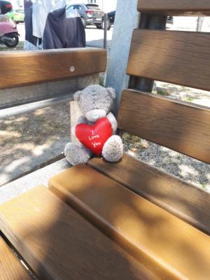 Gesehen auf einer Parkbank in Passau