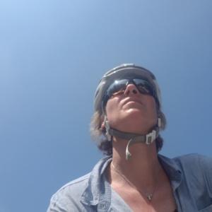Carmen beim Radeln