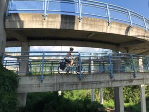 Mit Drehwurm auf die Brücke